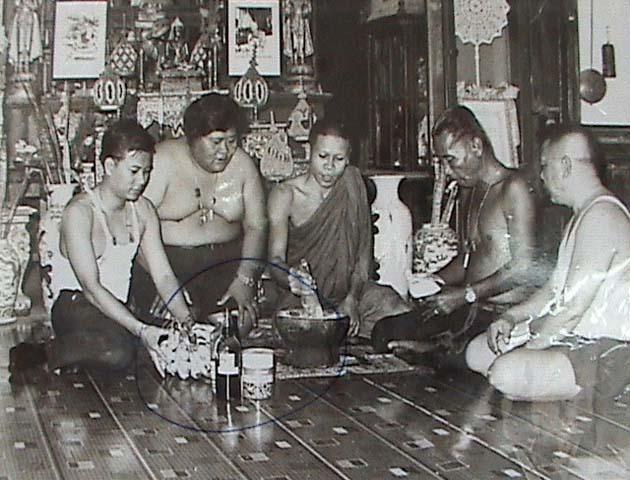Luang Por Daeng makes Muan Sarn Sacred Powders at Wat Bovornives