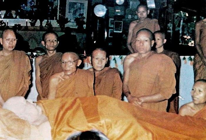 Monks in Mourning over Ajarn Fan