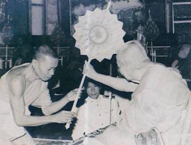 Luang Por Hyord receives status of Pra Kroo Chan Tri in the Year 2494 BE