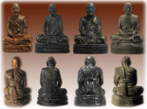 Roop Lor Luang Por Chuea Amulets in Various Types of Chanuan Muian Sarn Metals