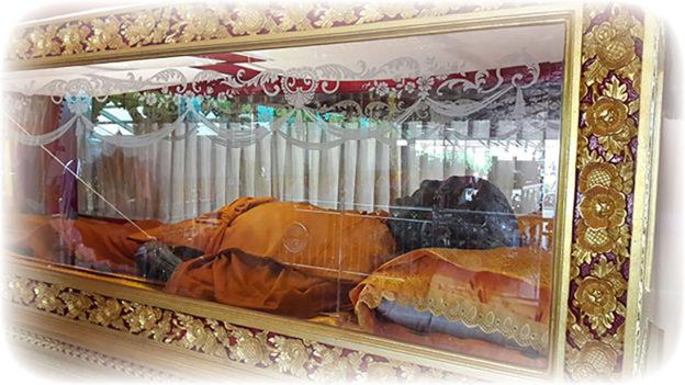 Relics of LP Yaem in Glass Coffin