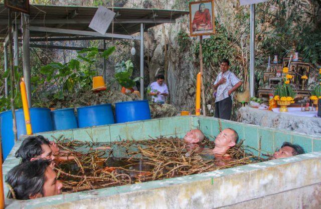 Herbal Bath Healing Ritual at Wat Khao Or