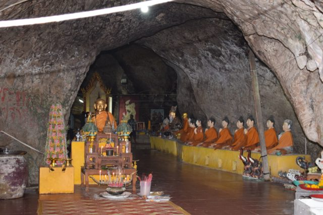 Inside the Cave at Wat Khao Or Temple in Pattalung