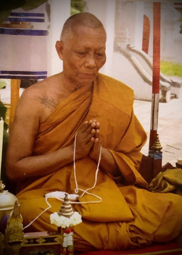 Holy Monk, LP Sakorn Preforming Blessings at Wat Nong Grub